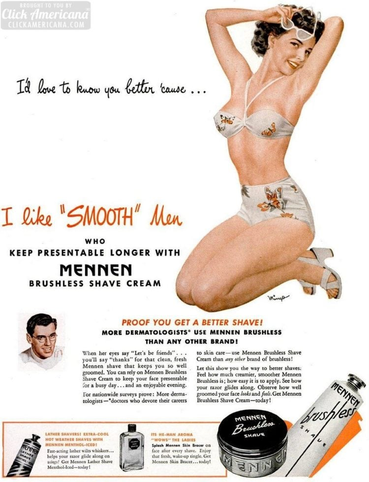 I'd love to know you better - Mennen Brushless Shave Cream