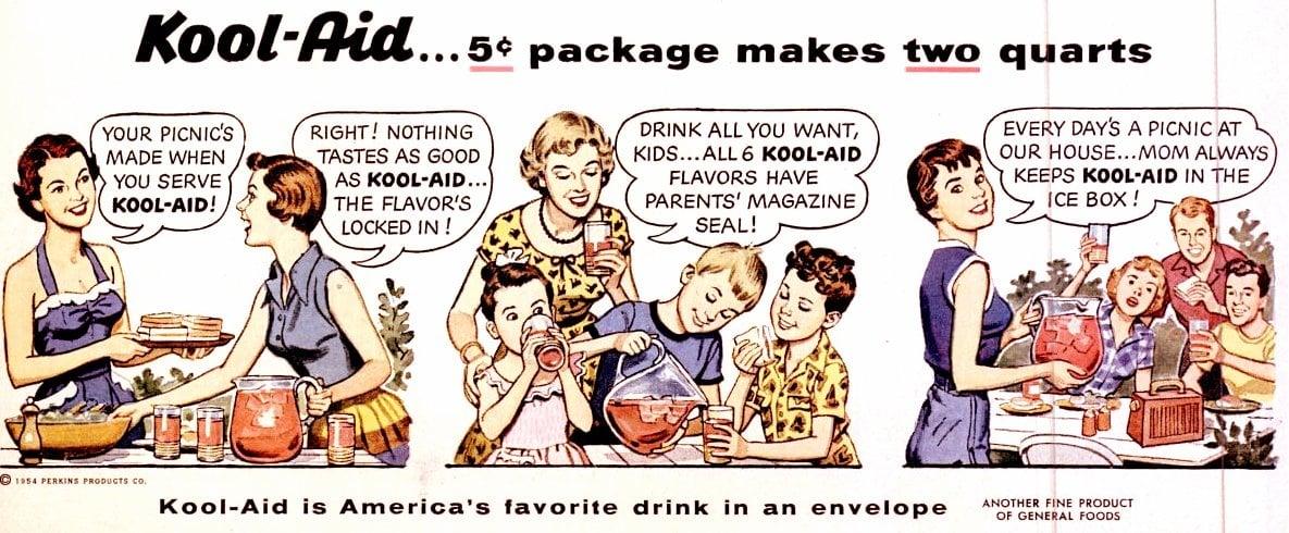 Jun 28, 1954 Kool Aid drinks comic strip