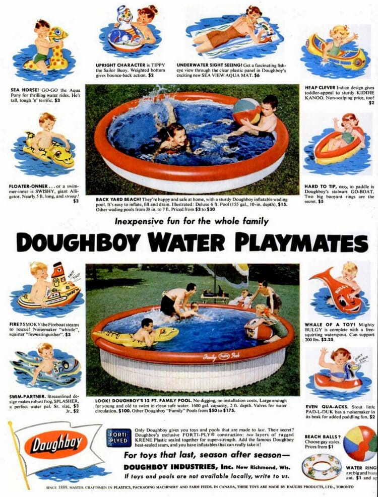 Jun 7, 1954 Doughboy pools and backyard fun