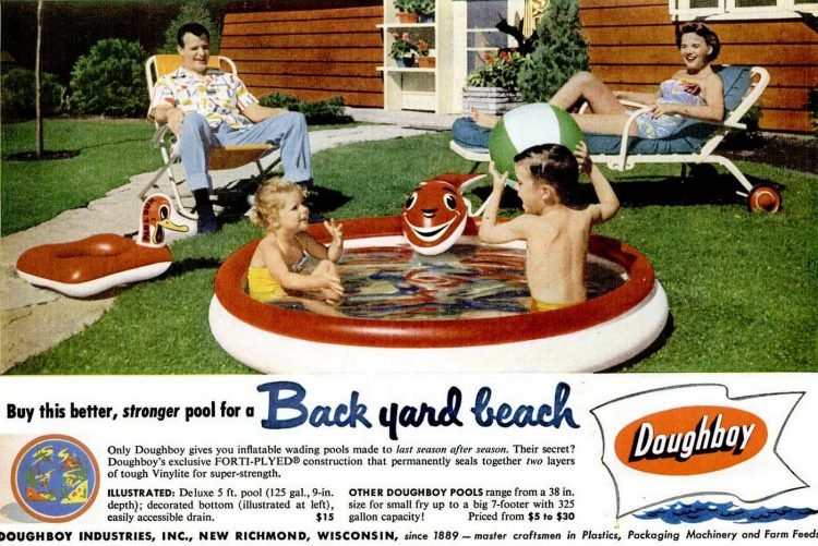 Jun 8, 1953 Doughboy backyard pools