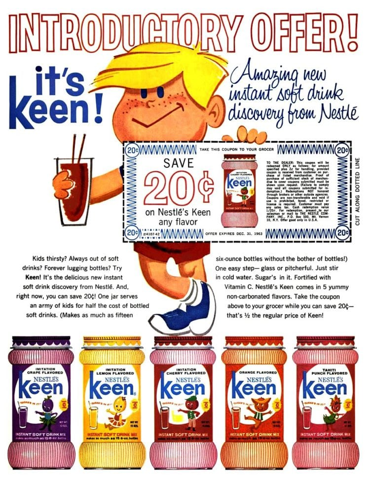 Amazing new Keen instant soft drink discovery from Nestle