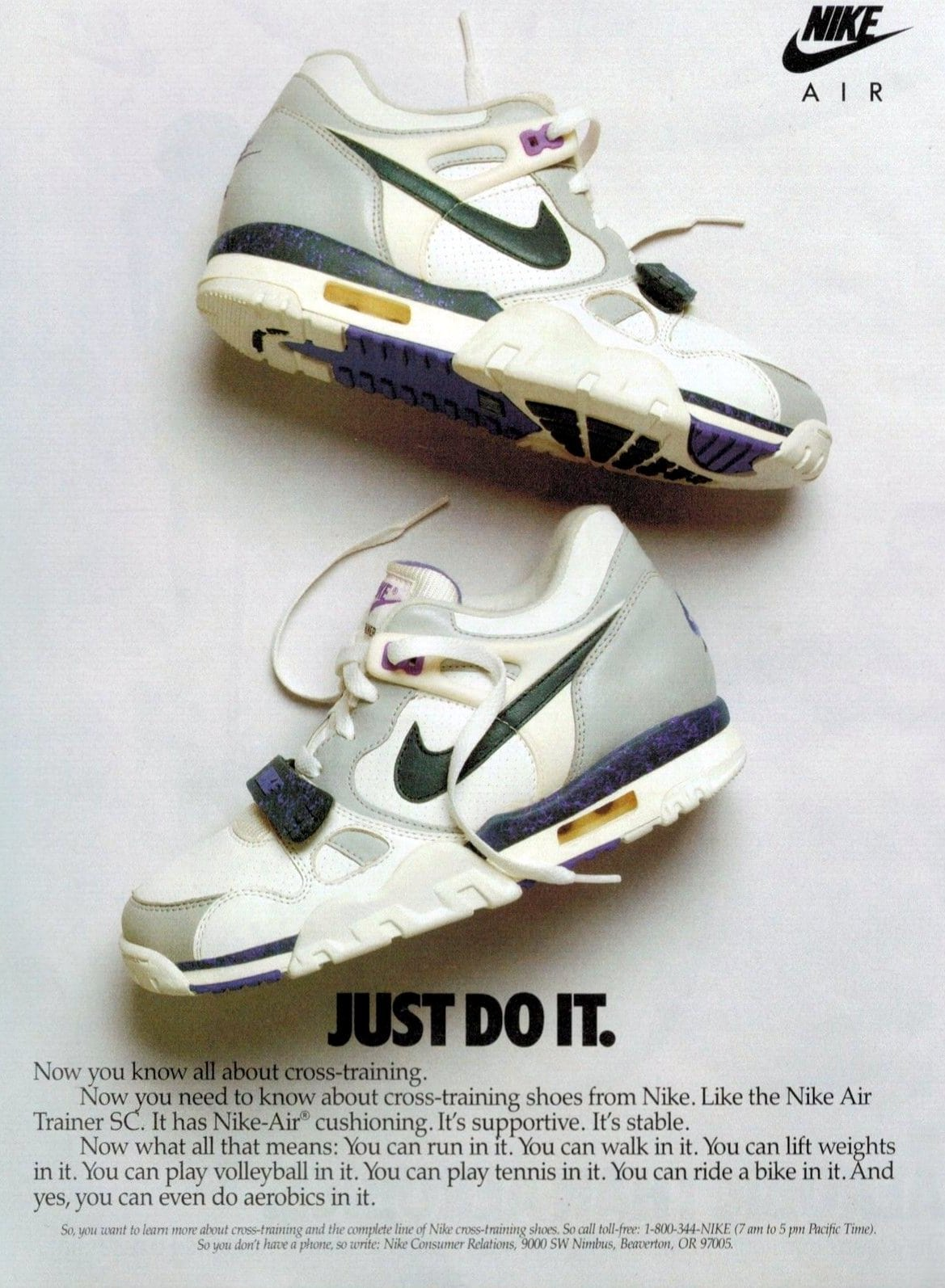 Just Do It - Vintage Nike Air Trainer SC shoes (1988)