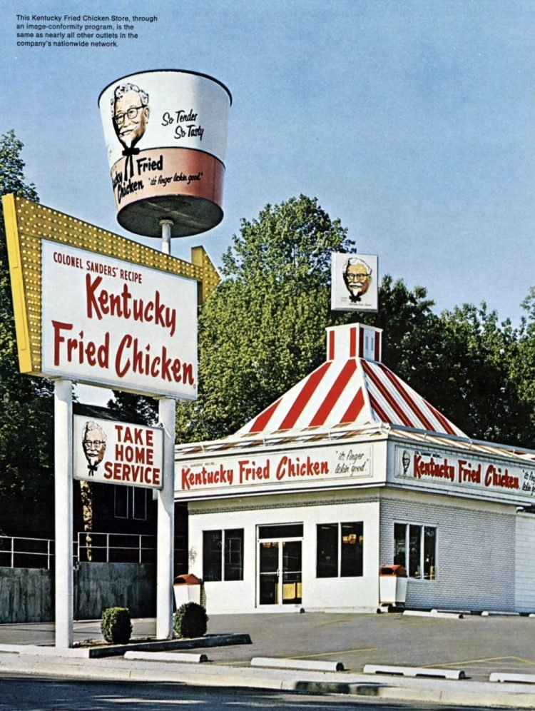KFC Kentucky Fried Chicken restaurants in the 1960s (5)