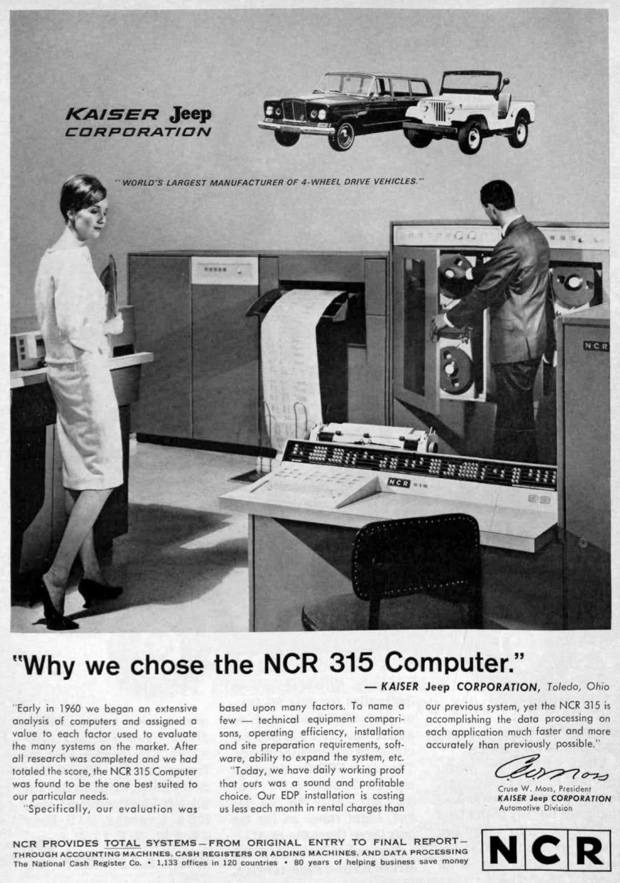 Kaiser-Jeep Corp - NCR 315 Computer (1964)