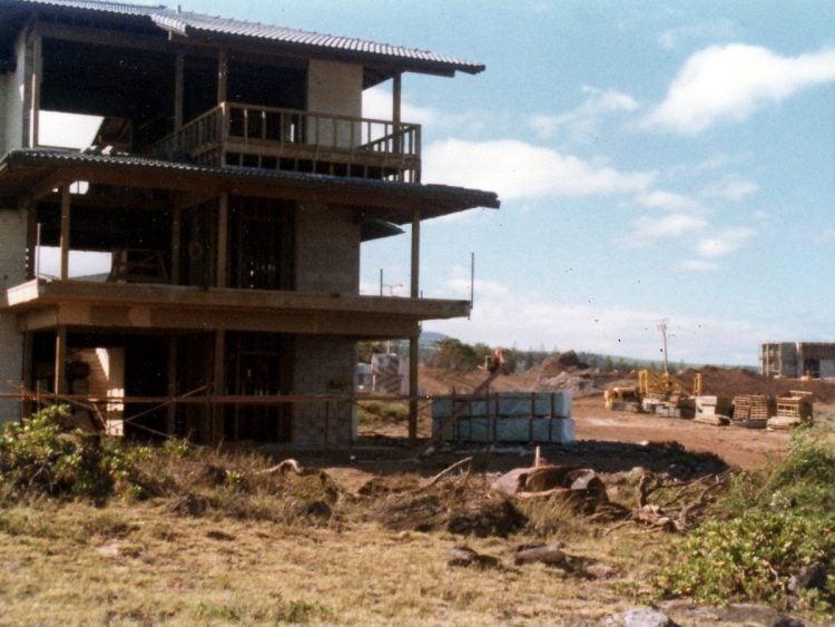 Kapalua Bay Villas condominiums under construction in 1977