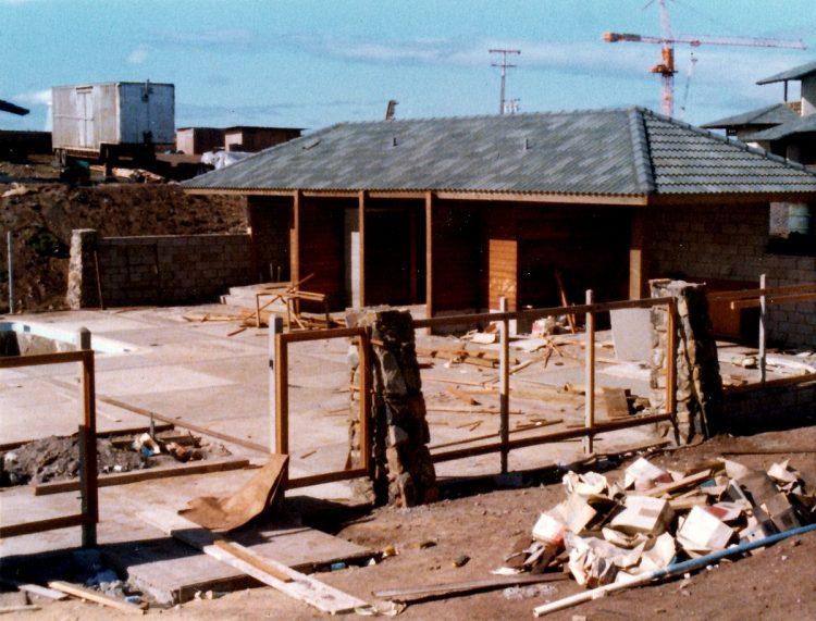Kapalua Bay Villas pool area under construction - 1977