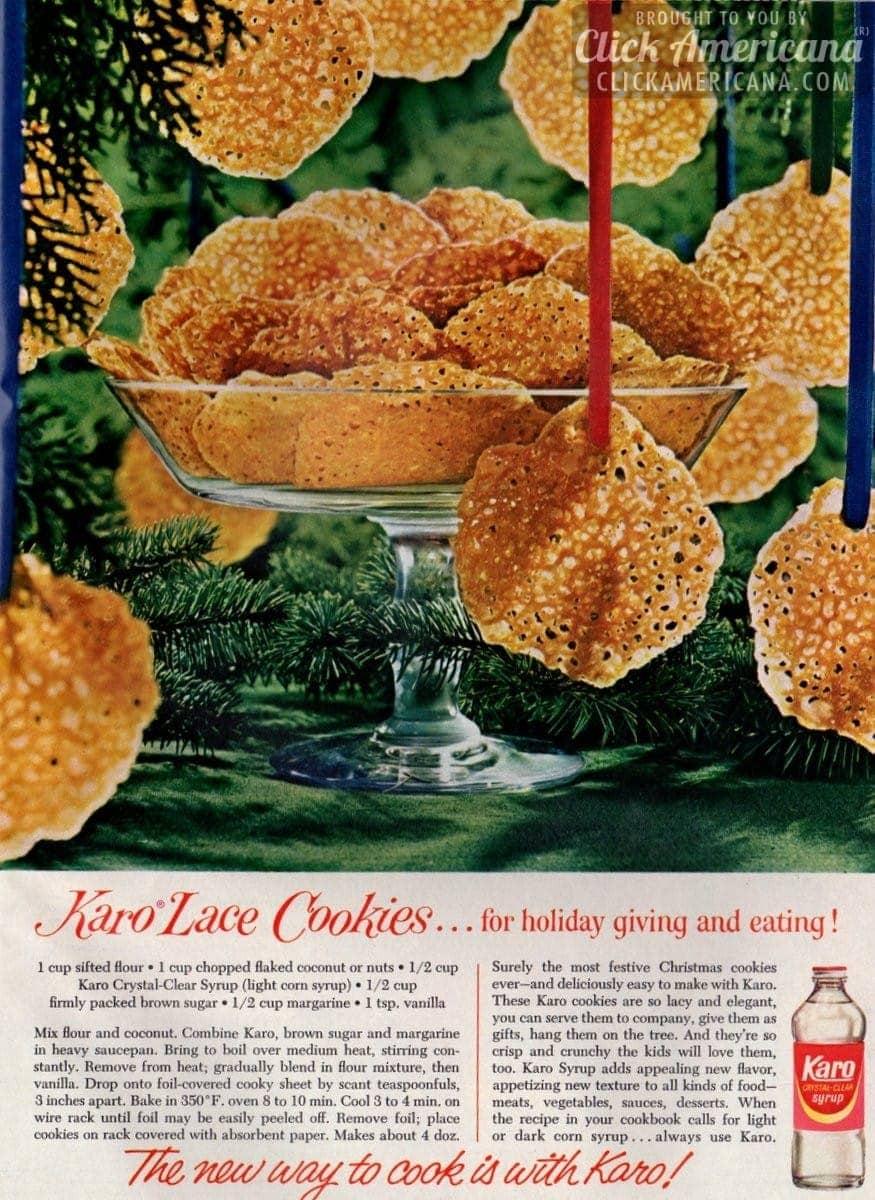 Karo Lace Cookies (1965)