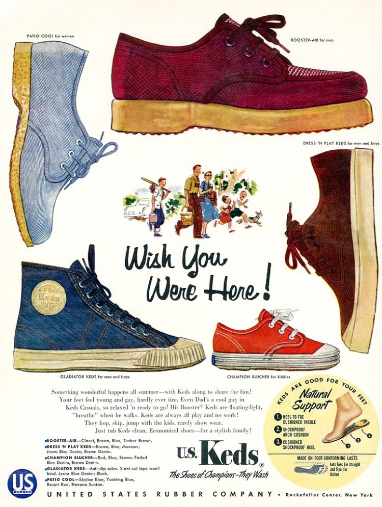 Keds shoes - Vintage 1950s ad