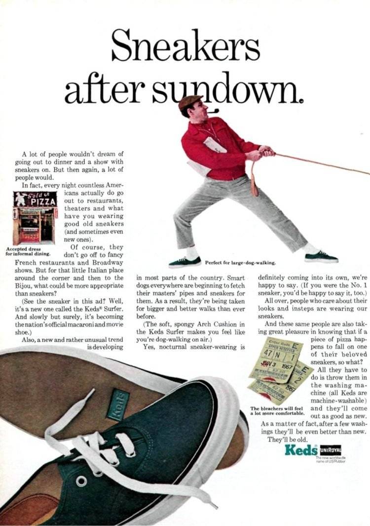 Keds sneakers after sundown - Vintage ad from 1967