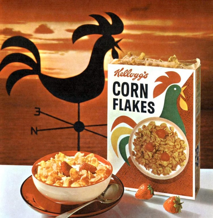 Kellogg's Corn Flakes cereal from 1960