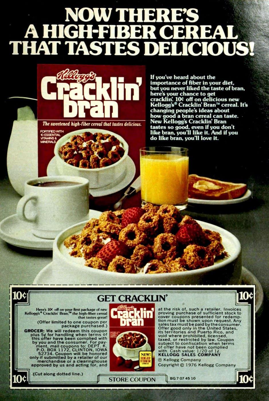 Kellogg's Cracklin Bran cereal (1977)