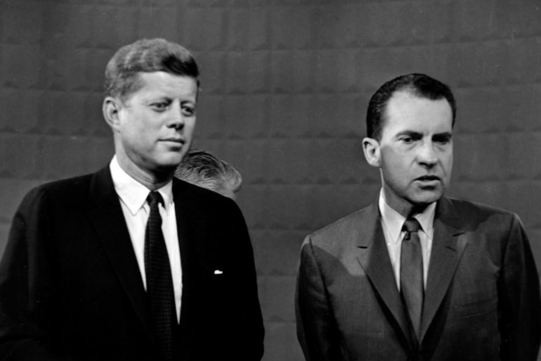 Kennedy and Nixon TV debate 1960