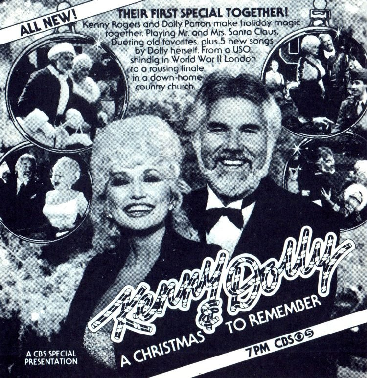 Kenny and Dolly CBS Christmas special 1984