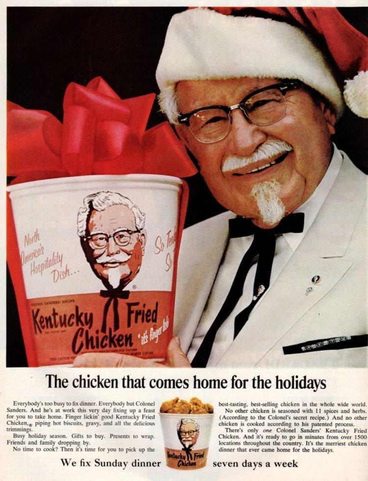 Kentucky Fried Chicken for Christmas rush - 1965