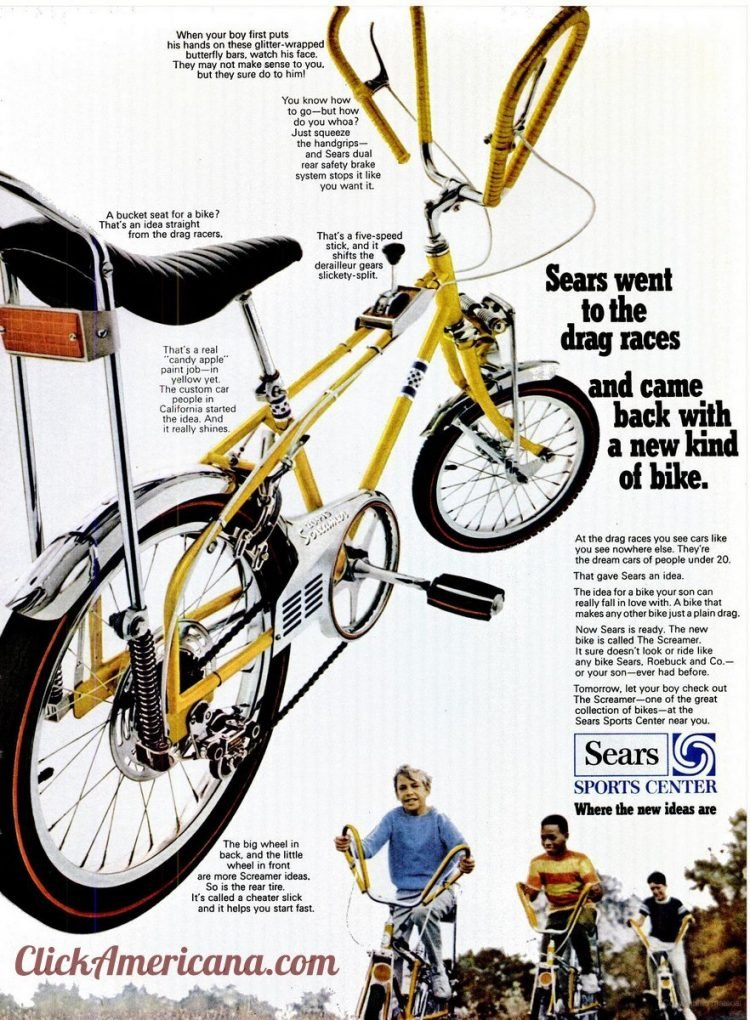 Kids' bikes from Sears Introducing The Screamer (1968)