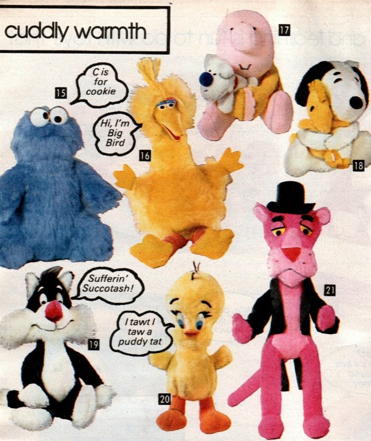Kids character stuffed toys from 1981