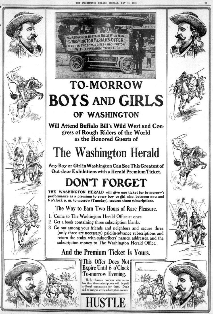 Kids for Buffalo Bill - Washington DC 1908