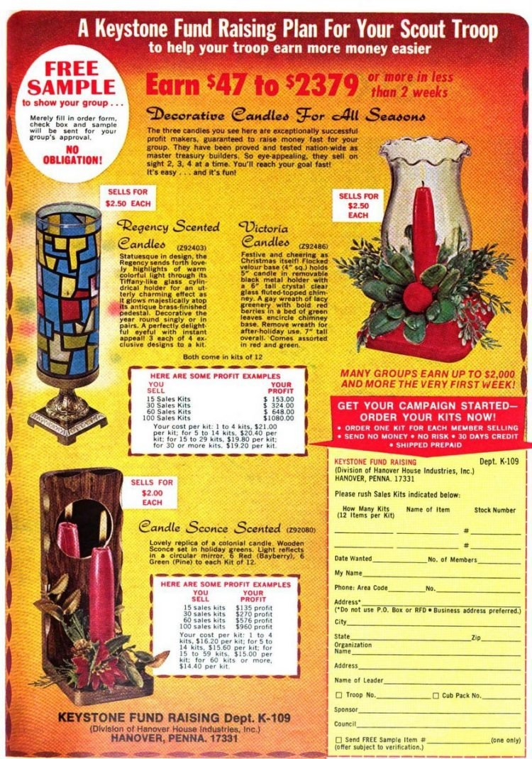 Kids fundraising things to sell from 1972 (2)