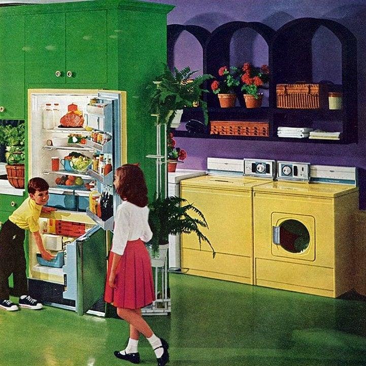 Kids in the kitchen in 1960