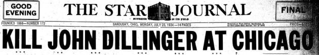 Kill John Dillinger at Chicago