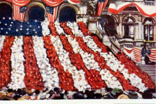 US Flag Kinemacolor - Examples of colors in movies - moving pictures c1913