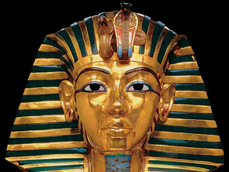 King Tut mask - touring exhibit 1970s
