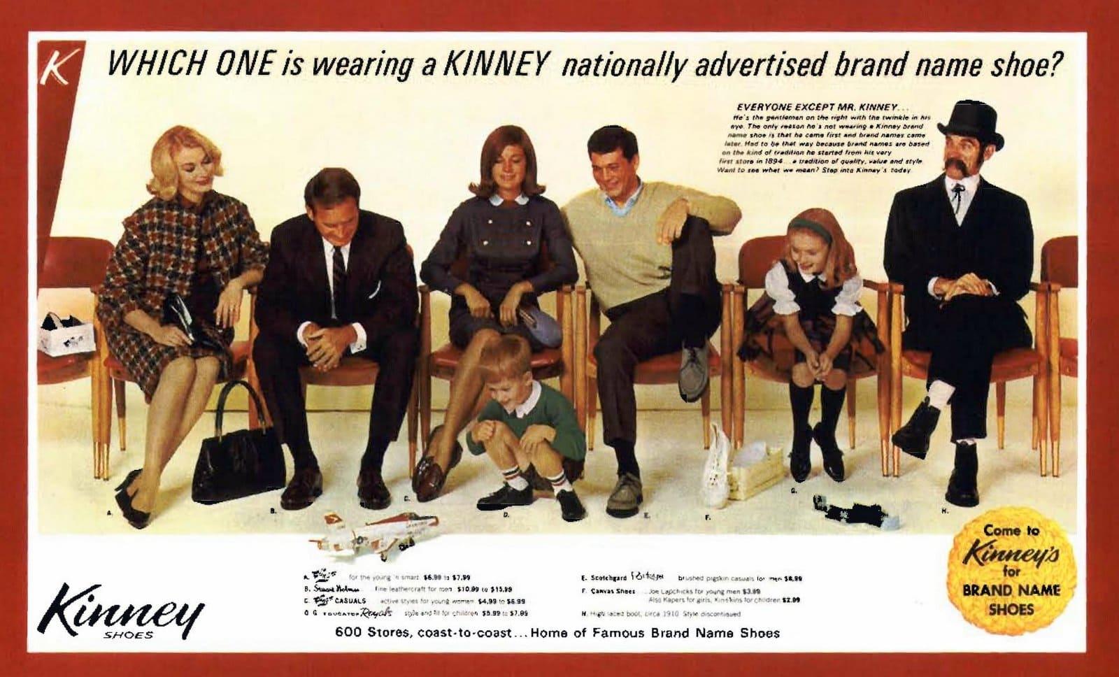 Kinney shoe styles (1964)