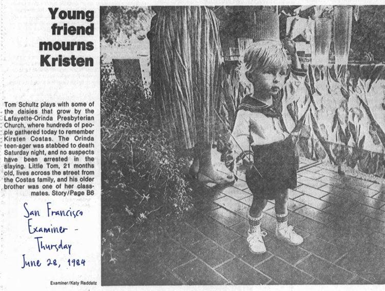 Kirsten Costas funeral - San Francisco Examiner - June 28, 1984
