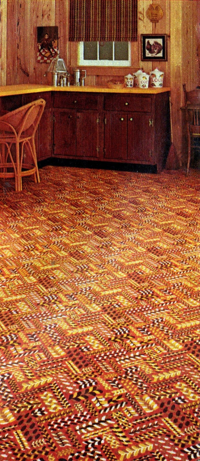 Kitchen carpeting for the home from 1973 (1)
