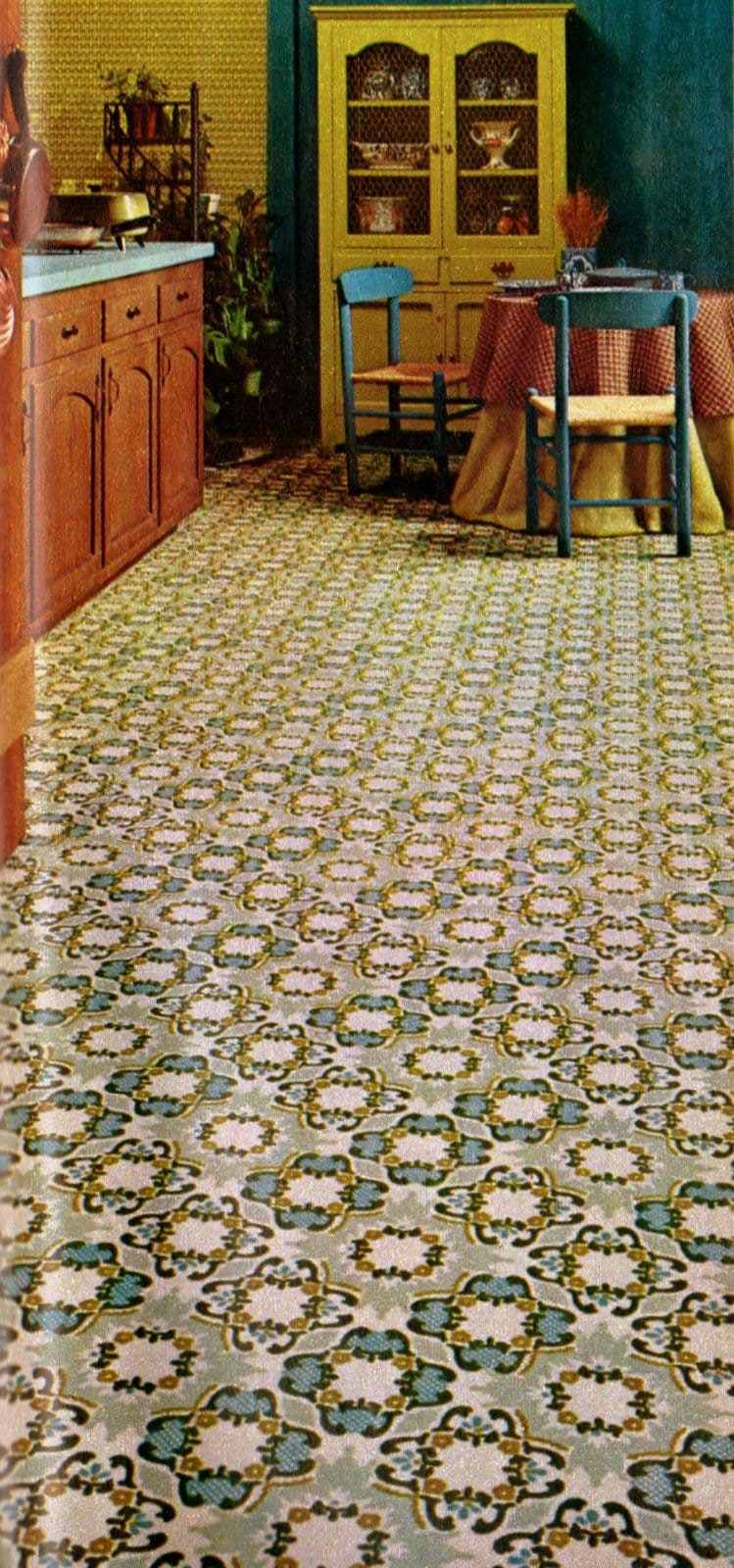 Kitchen carpeting for the home from 1973 (3)
