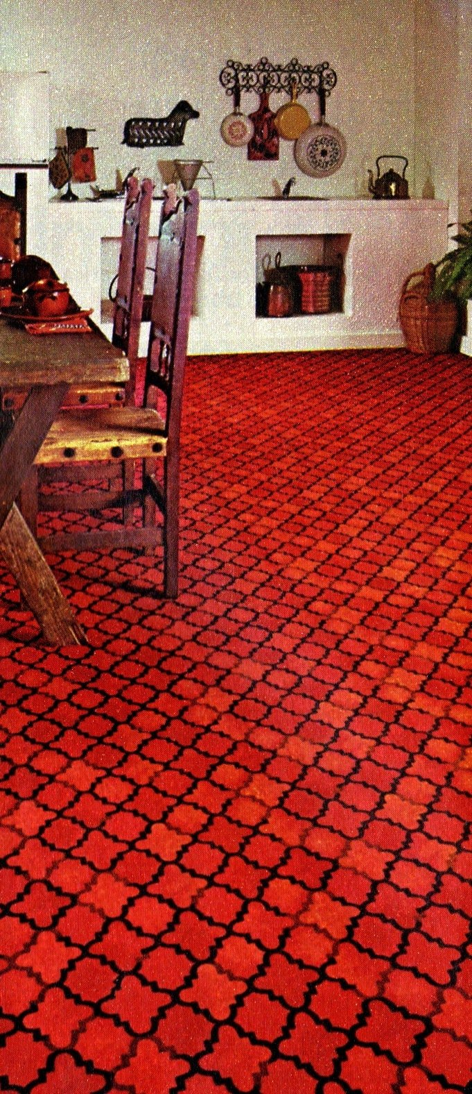 Kitchen carpeting for the home from 1973 (5)