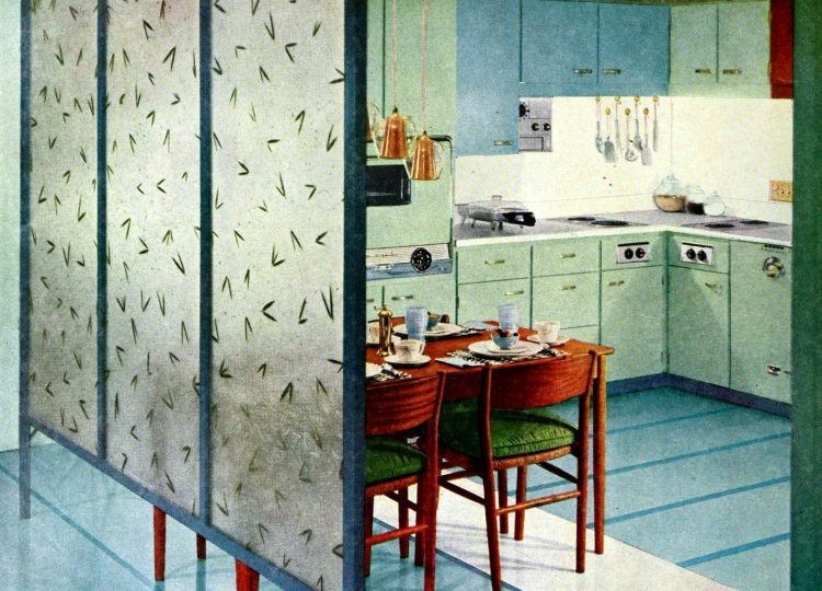 Kitchen dining room divider from 1957