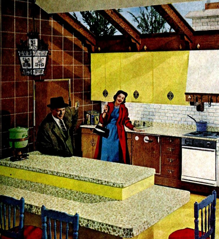 Kitchen island from 1960 - Vintage home decor