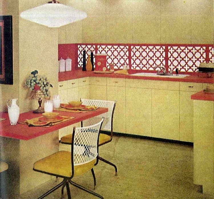 Kitchen paint 1959 - red and yellow home decor