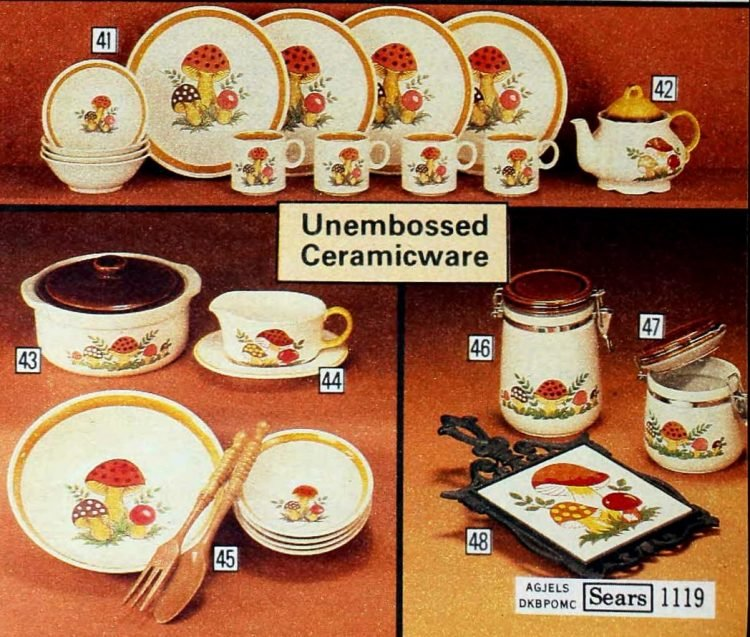 Kitschy old mushroom design kitchen accessories from 1979 (1)