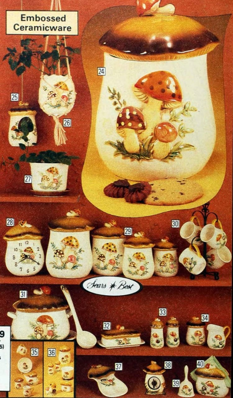 Kitschy old mushroom design kitchen accessories from 1979 (4)