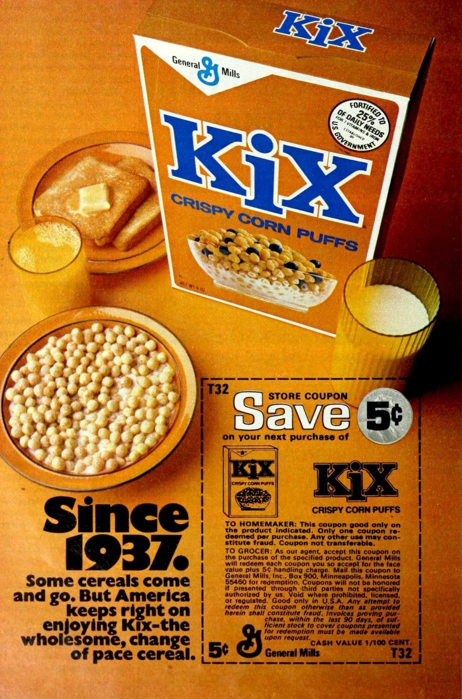 Kix cereal from the seventies (1976)