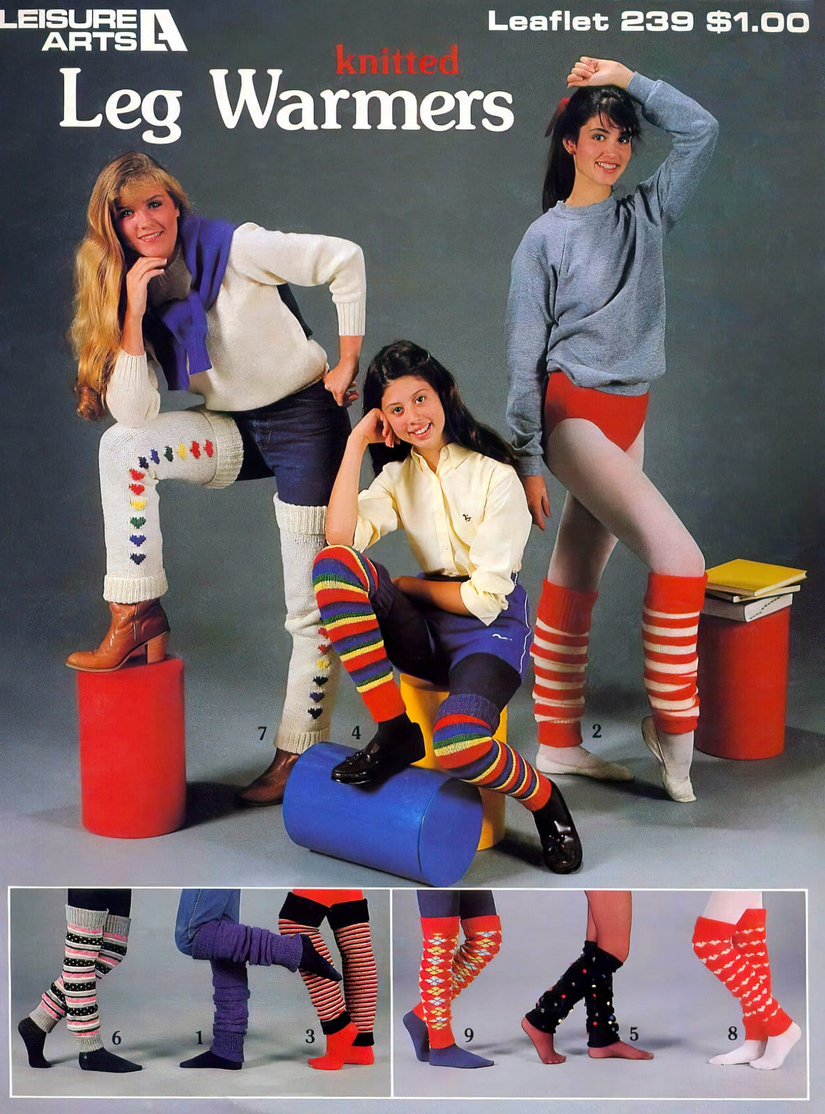 Knitted leg warmers how-to 1982
