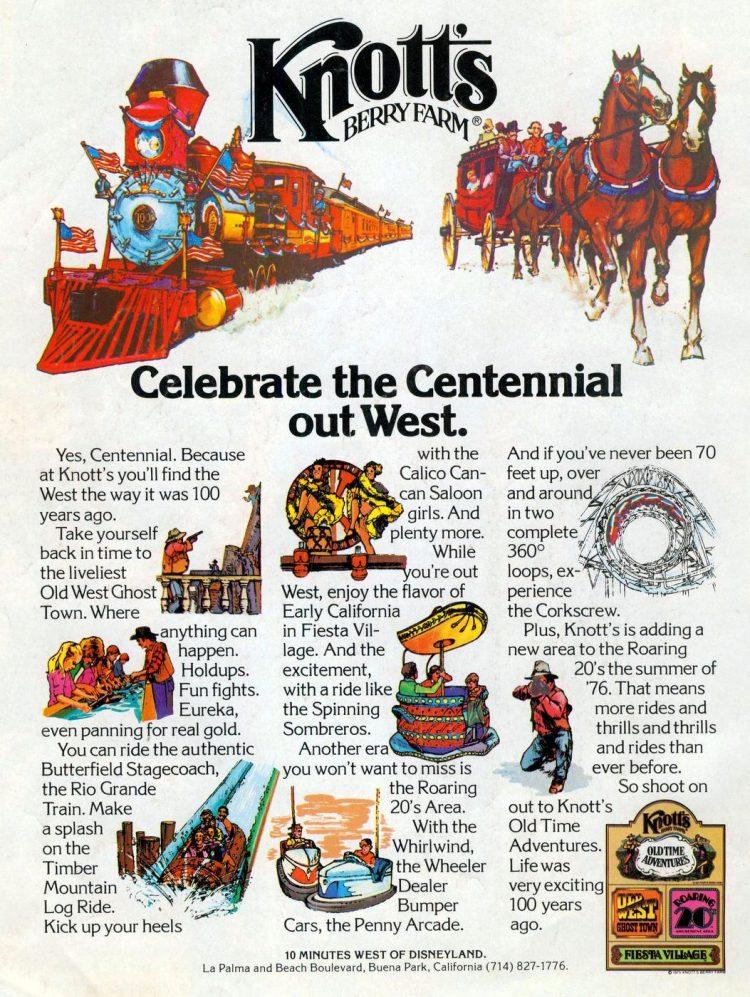 Knott's Berry Farm - Celebrate the Centennial 1976