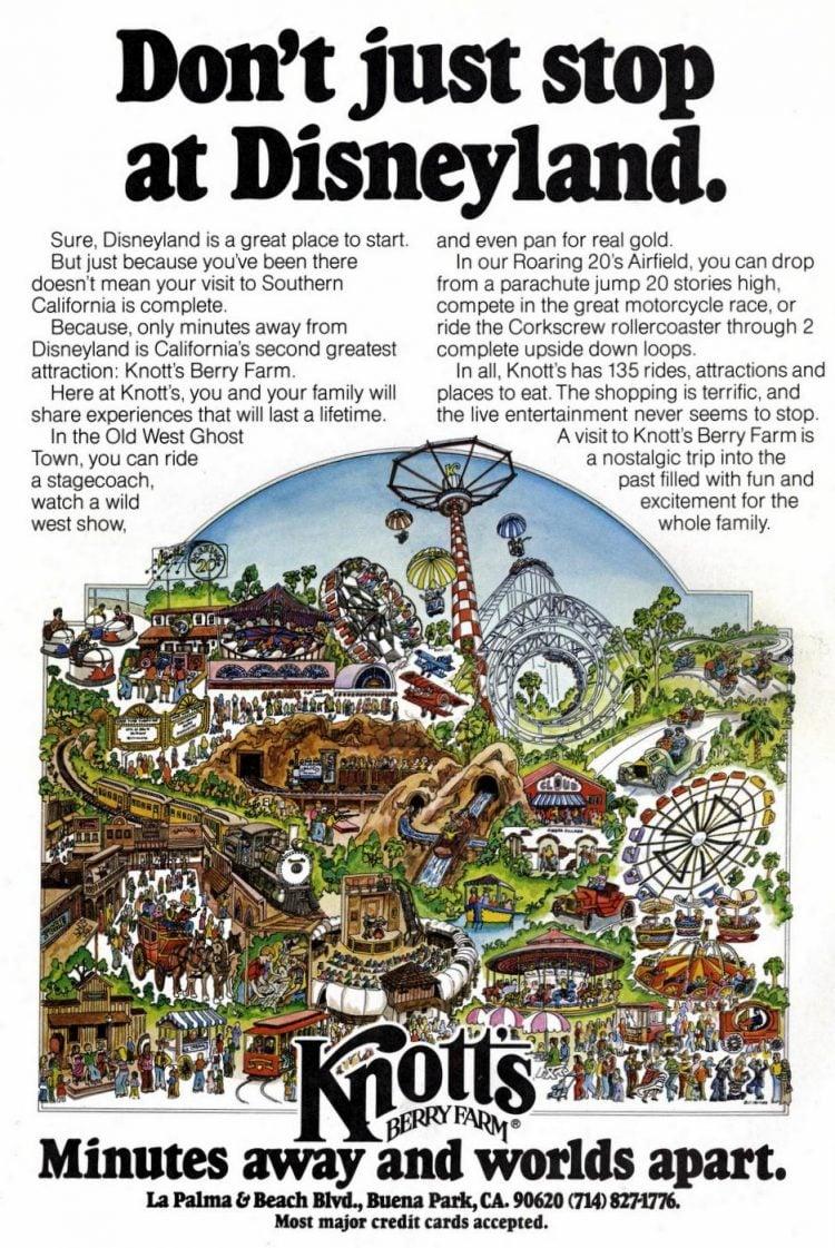 Knott's Berry Farm - Don't just stop at Disneyland 1980