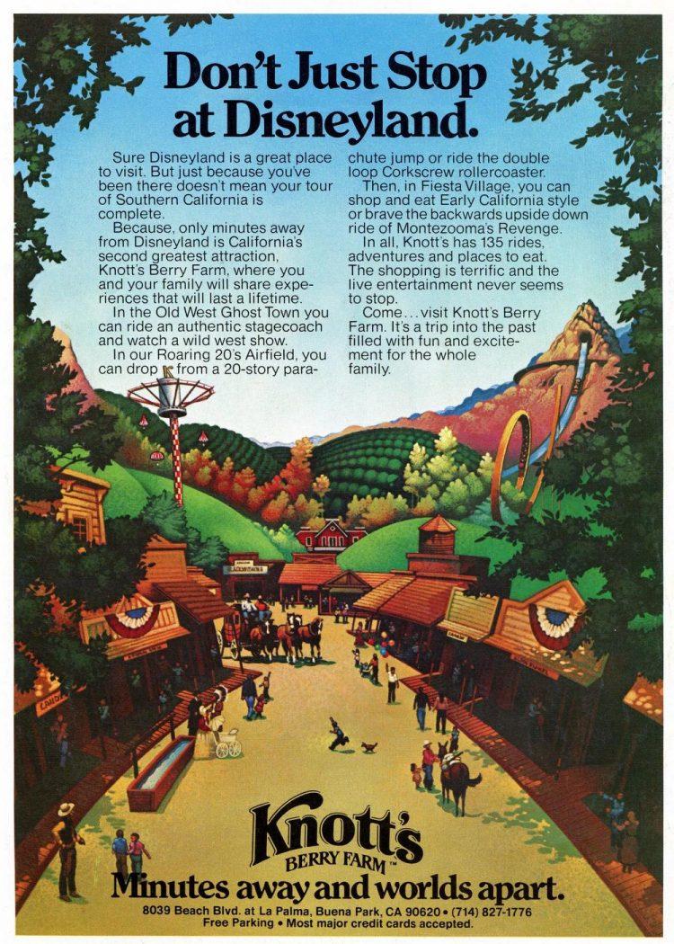 Knott's Berry Farm - Southern California amusement park in 1980