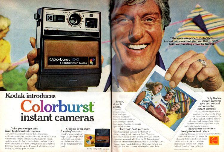 Kodak Colorburst vintage instant camera 1978 - Dick Van Dyke