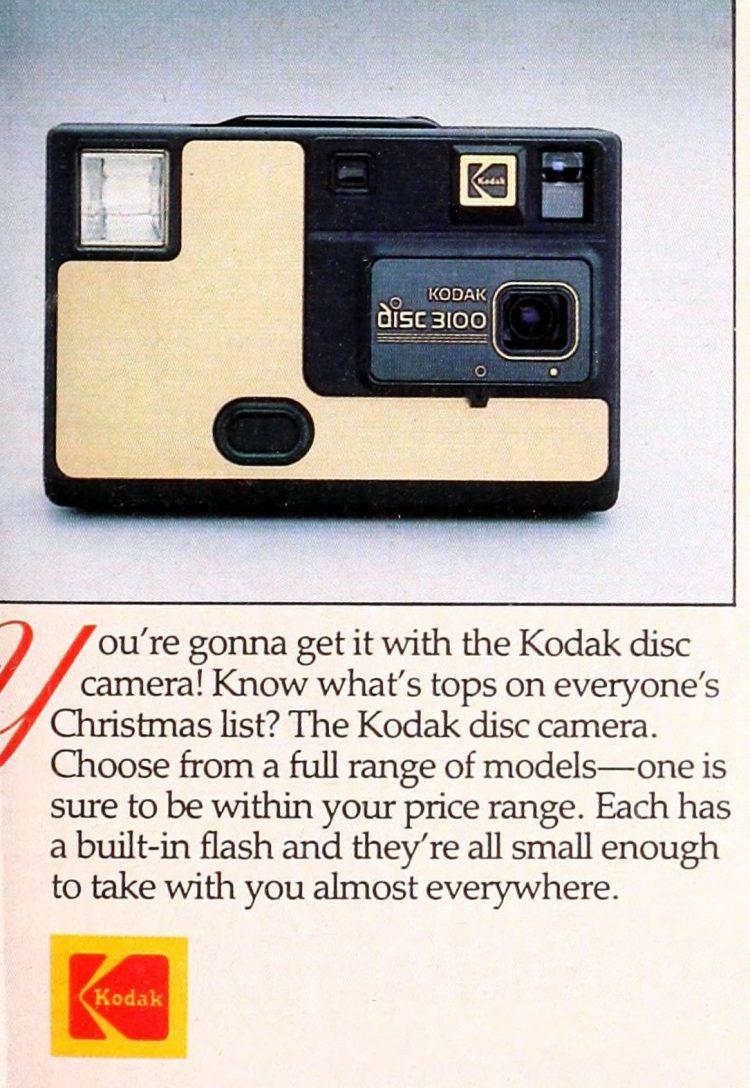 Kodak Disc 3100 camera from 1985