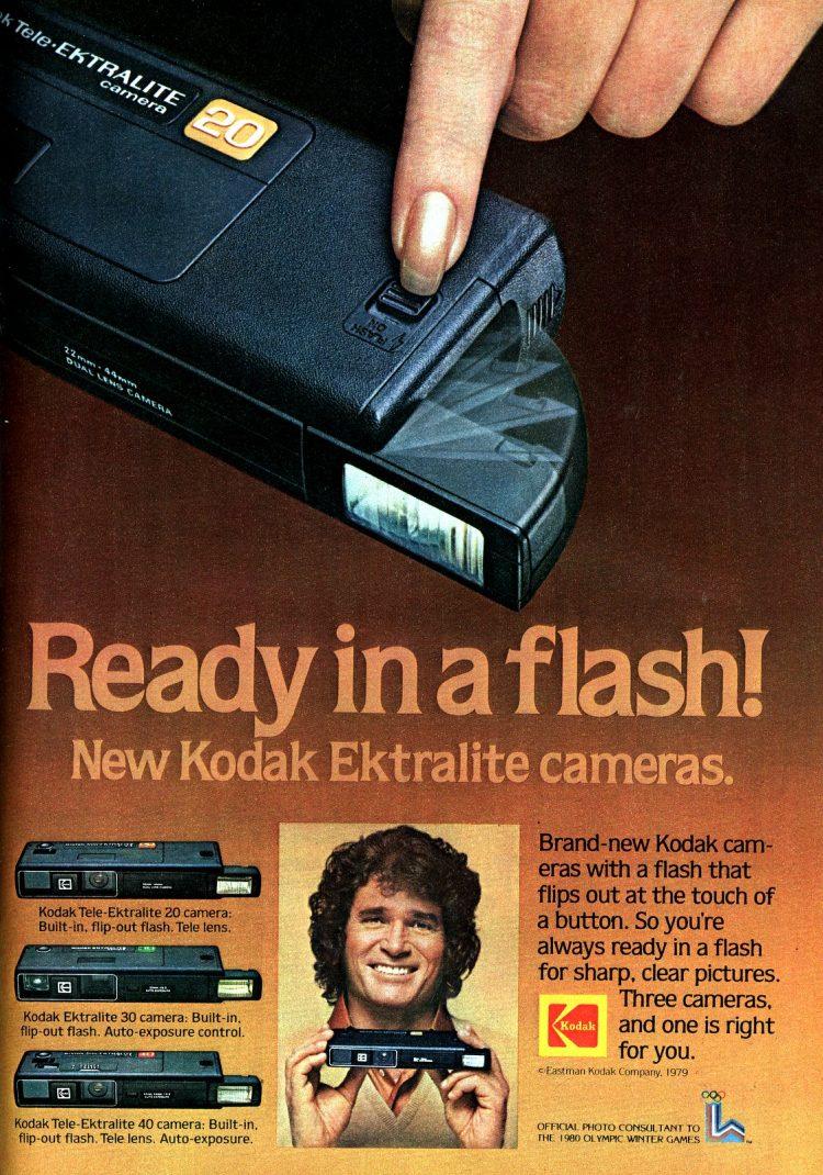 Kodak Ektralite vintage 110 film cameras from 1979 - Michael Landon