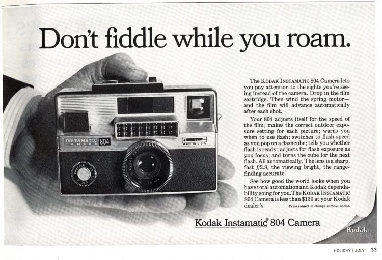Kodak Instamatic 804 camera from 1967