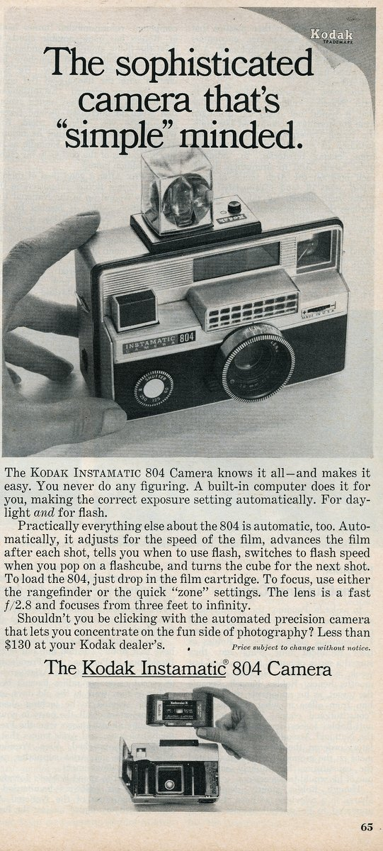 Kodak Instamatic 804 camera from 1968