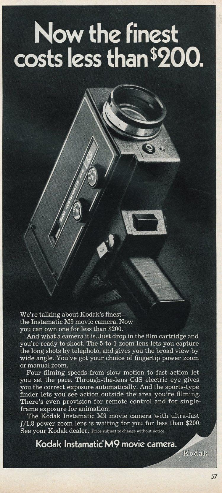 Vintage Kodak Instamatic M9 Movie Camera from 1969