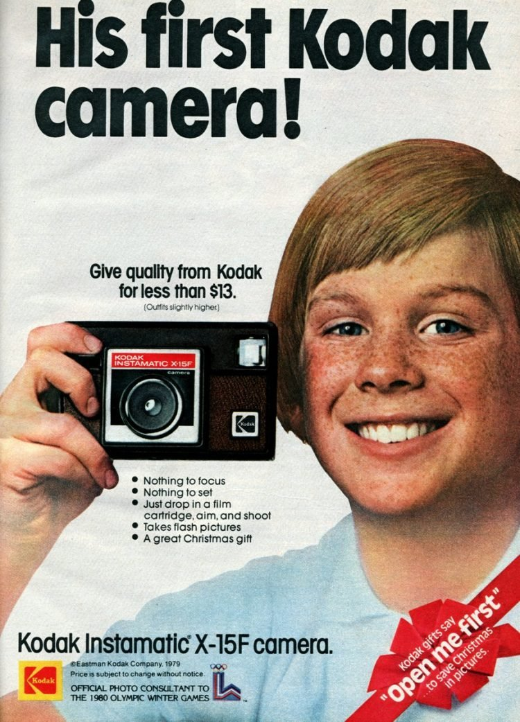 Kodak Instamatic X-15F camera from 1979