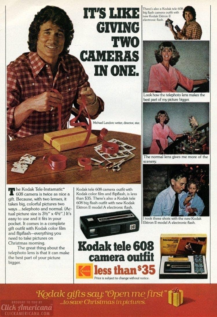 Kodak Tele 608 camera from 1977 - Michael Landon