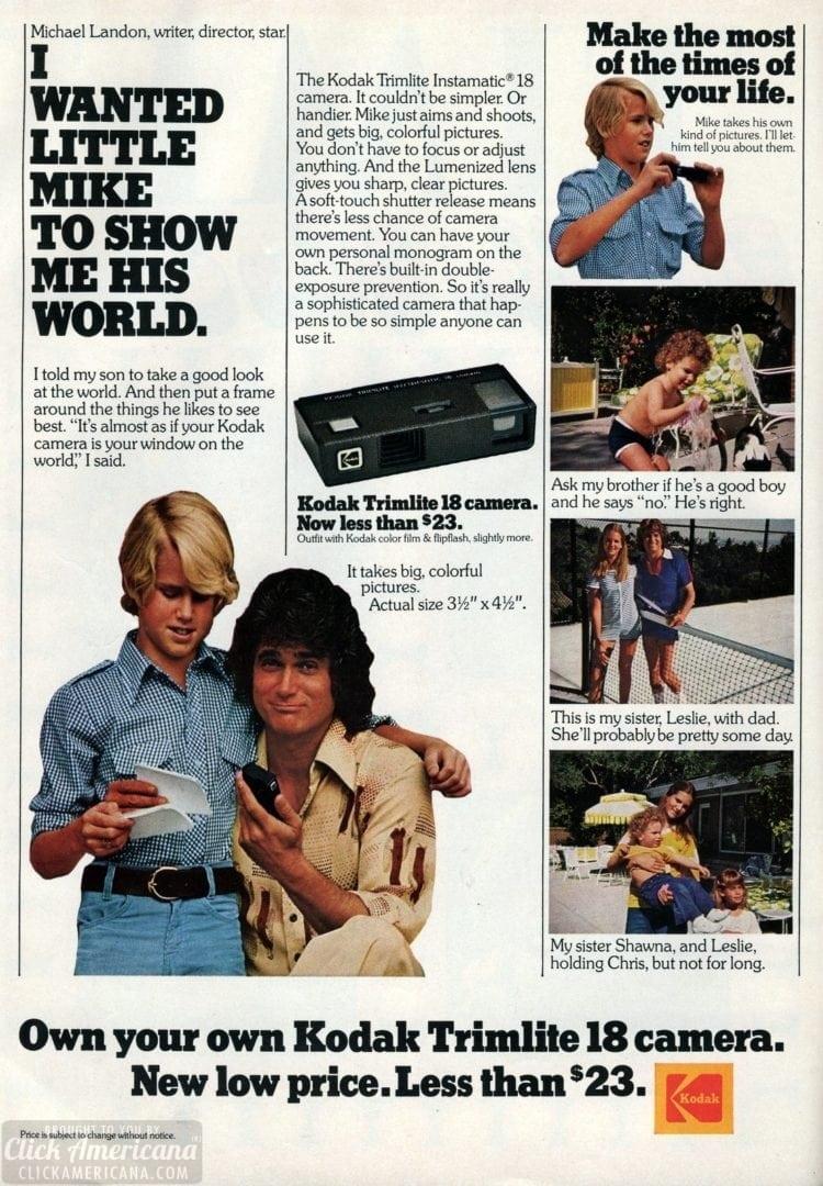 Kodak Trimlite 18 camera from 1977 - Michael Landon (1)